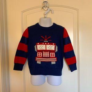 Baby gap fire truck sweater